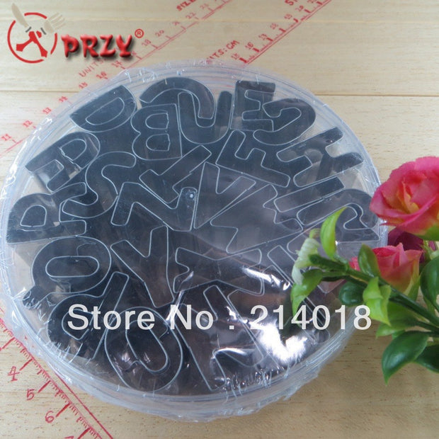 26PCS English Alphabet Cookies Mould Set Circle Cookie Cutter Mold Biscuit Decorating Cake NO.:CO099