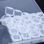 28 Separate Slots Clear Plastic Storage Box Home Storage Jewelry Rhinestone Case Organizer Holder For Rhinestone Nail Art