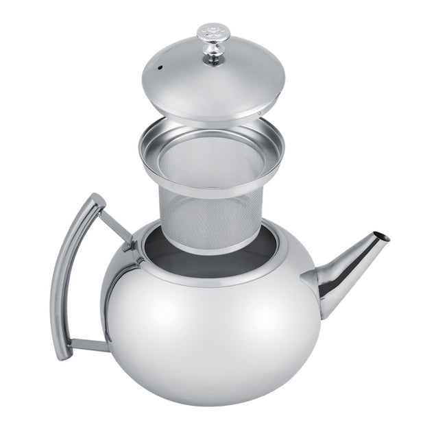 2L Stainless Steel Teapot Coffee Tea Pot Kettle With Removable Infuser Filter Kitchen Coffee Tea Tools Accessories