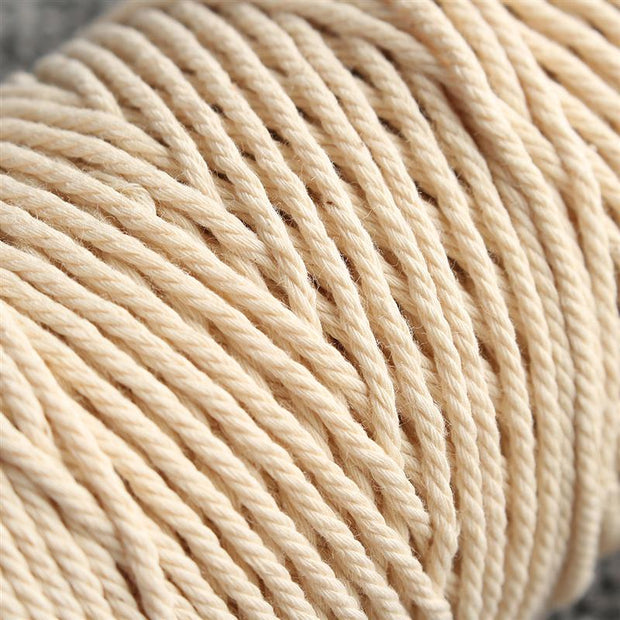 2mmx200m Beige White Cotton Twisted Cord Rope Bohemian Craft BOHO Macrame String Handmade Decorative Accessories