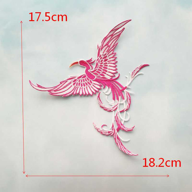 2pcs/ Pair Flying Birds Applique Embroidered Iron On Fashion Patches Sticker For Clothes Bag Diy Repair Craft Home Decoration