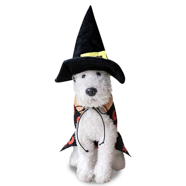 2pcs Pet Dog Christmas Cosplay Costume Dogs Funny Christmas Halloween Cloak Parties Dressing Up
