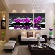 3 Piece Canvas Painting Purple Flowers Living Room Decorative Pictures Modern Canvas Prints Wall Art Painting No Frame HY53