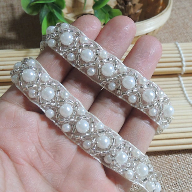 3 Yards / Clothing Accessories, Bead Lace, Decorative Clothing, Handmade DIY Material Width 1.5cm YS0184