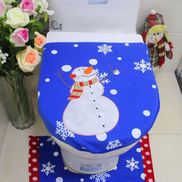 Stupendous 3 Pcs Set Christmas Snowman Toilet Seat Cover Foot Pad Water Tank Cover Bathroom Christmas Decorations 6A0505 Pabps2019 Chair Design Images Pabps2019Com