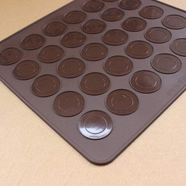 30 Holes Macarons Mat 1 Pc Round Shape Silicone Gel Pad Macarons Mat Fit To Oven Microwave Refrigerator Silicone Macaron Mat