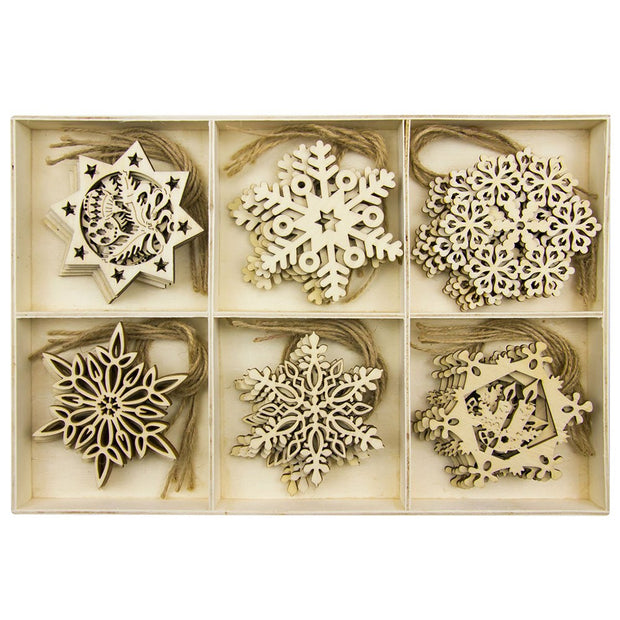 30 PC Merry Christmas Snow Wooden Pendants Ornaments Xmas Tree Ornament Wood Crafts For Home Christmas Party Decoration C913