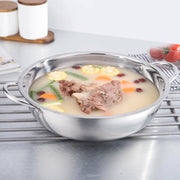 30CM Stainless Steel Hot Pot Shabu Induction Cooker Gas Stove Compatible Pot Home Kitchen Cookware Soup Cooking Pot