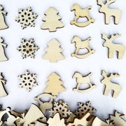 30pcs 20mm Unfinished Wooden Ornaments Decorative Wood Slices Eco-friendly Embellishments For Christmas Decoraiton