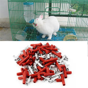 30pcs Automatic Nipple Water Feeder+T Tubing + Spring Waterer Drinker Poultry Rabbits Mouse Feeder Drinker For Farm Animals