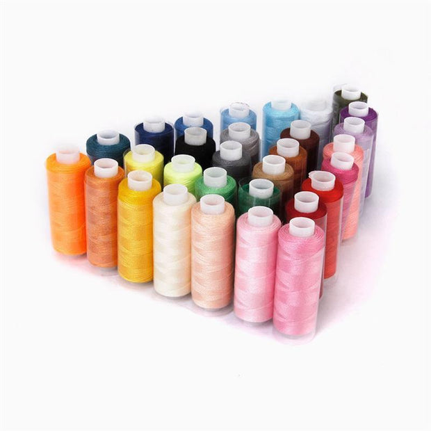 30pcs Polyester Yarn Coils Strings Sewing Quilting Threads DIY Sewing Thread Kit For Hand Sewing (Random Color)