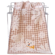 34*74cm High Quality Cartoon Bear Bath Towel Cotton Face Towel Strong Water Absorption Compressed Soft Towels Towels Bathroom