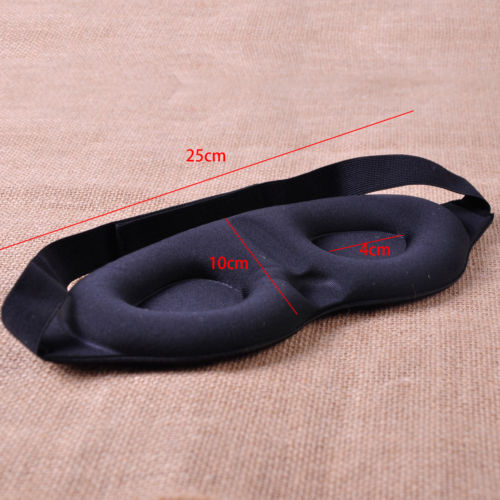3D Eye Mask Soft Padded Sleep Travel Shade Cover Rest Relax Sleeping Blindfold Holiday DIY Decorations