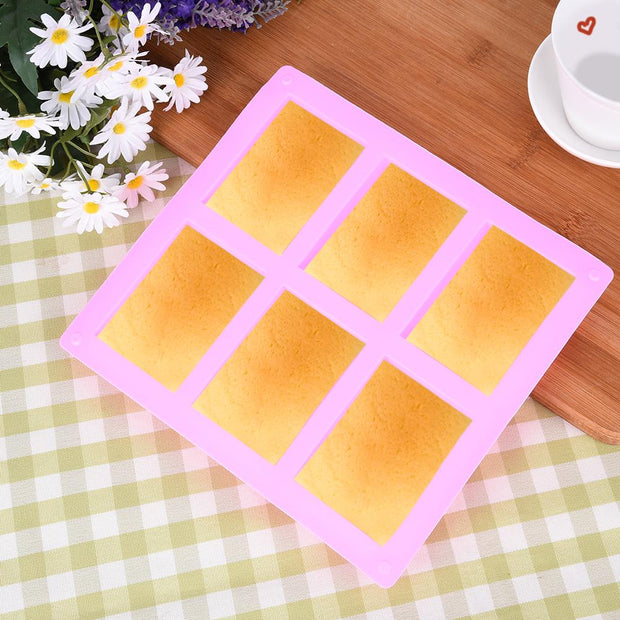 3D Handmade Rectangle Square Silicone Soap Mold Chocolate Cookies Mould Cake Decorating Fondant Molds 3 Size