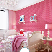 3D Wall Sticker Brick Pattern Anti-collision Foam DIY Self-adhesive Decal