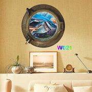 3D Wall Sticker Window Finding Nemo Art Ocean View Wall Stickers Home Decor Toilet Sticker Kids Rooms DIY Poster Stickers