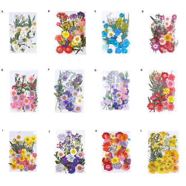 40Pcs/Lot Pressed Dry Flower Plants Resin Pendant Necklace Jewelry Making Craft DIY Accessories TB Sale
