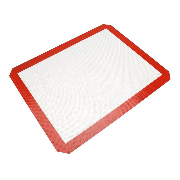 42*29.5cm Non-Stick Silicone Baking Mat Rolling Dough Mat Glass Fiber Baking Liner For Cake Cookie Macaron Oil Proof Pastry Mat
