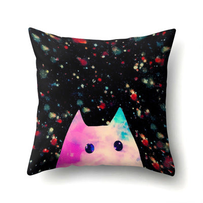 45*45cm Cute Cartoon Cover Elephant Cat Pillowcase Giraffe Throw Pillow Case New Arrivals