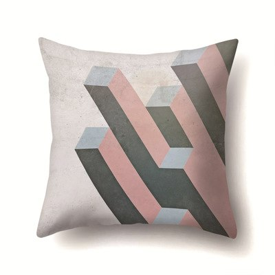 45*45cm Pillowcases Black And White Style Stripe Lattice Pillow Cases Square Home Wholesale Drop Shipping 2019