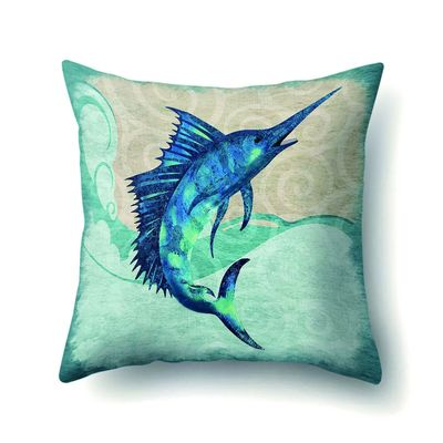 45*45cm Square Printed Whale Fish Crab Shark Pillowcase Anime Lounger Home Pillow Covers New Arrival 2019