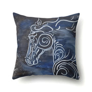45*45cm Square Stitching Throw Pillow Case Geometric Creative Horse Animal Print Pillow Case For Bedroom And Home