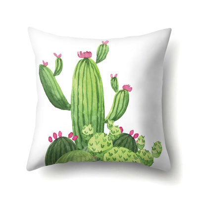 45*45cm Tropical Print Cactus Polyester Throw Pillow Home Pillowcase Wholesale Drop Shipping 2019