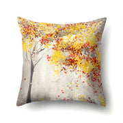 45*45cm Yellow Simple Sketch Natural Scenery Pillowcases Dreamy Pillow Cover Throw Christmas Gifts New