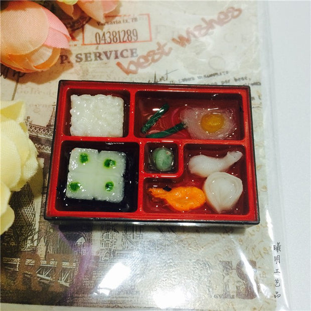 (5 Pieces/ Lot)Creative Lovely Three-dimensional Simulation Of Sushi Food Lunch Food Silicone Fridge Magnet