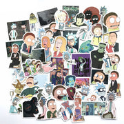 50 PCS Cartoon PVC Sticker For Scrapbook Waterproof Sticker For Luggage Bicycle Computer Stickers For Handbook