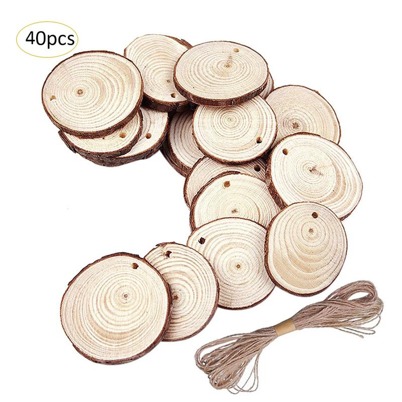 50 Pcs Christmas Ornaments Diy Innovative Small Wood Discs Circles Painting Round Small Pine Slices 5 6 Cm197 236 In