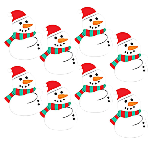 50 Pcs Christmas Lollipop Paper Card Snowman Lovely Cartoon DIY Candy Decoration Party Supplies For Birthday Xmas Wedding