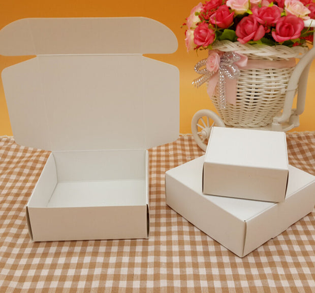50pcs Black White Kraft Paper Candy Carton Box Small White Cardboard