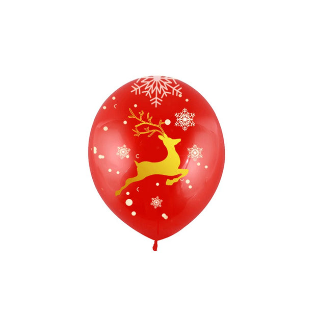50pcs Christmas Balloons Printed Holiday Party Balloons Decorations For Hotel Home Office Shopping Mall Bar