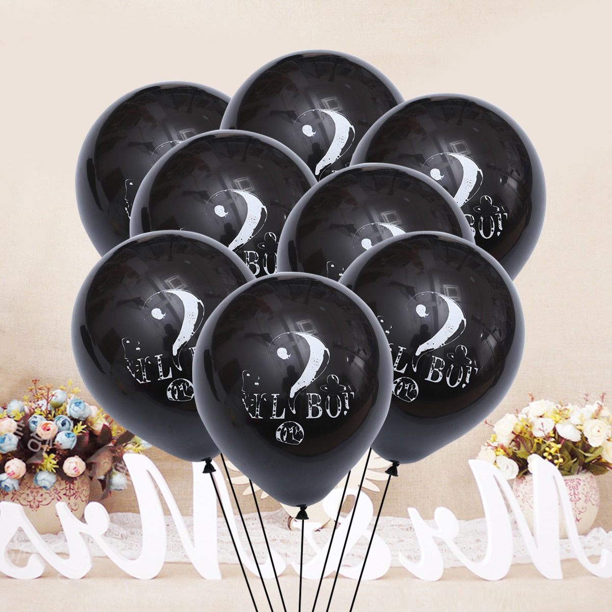 """Gold Question Mark 14/"""" Balloon Birthday Party Decorations"""