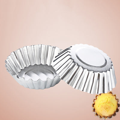 50pcs/lot Egg Tart Maker Baking Pastry Tool Thickening Aluminum Mold Cake Jelly Mould Bakeware Home Kitchen Accessories Supplies