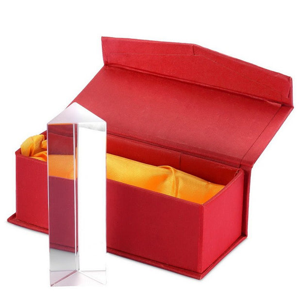 5CM Triangular Prism Teaching Optical Glass Triple Physics Light Spectrum With Gift Box