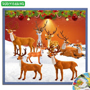 5D DIY Diamond Painting Christmas Full Square Diamond Embroidery Mosaic Animals Crystal Painting Christmas Decorations For Home
