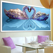 5D DIY Diamond Painting Needle Diamond Diamond Mosaic Diamond Embroidered Swan Pattern Hobbies & Crafts Home Furnishings Gifts