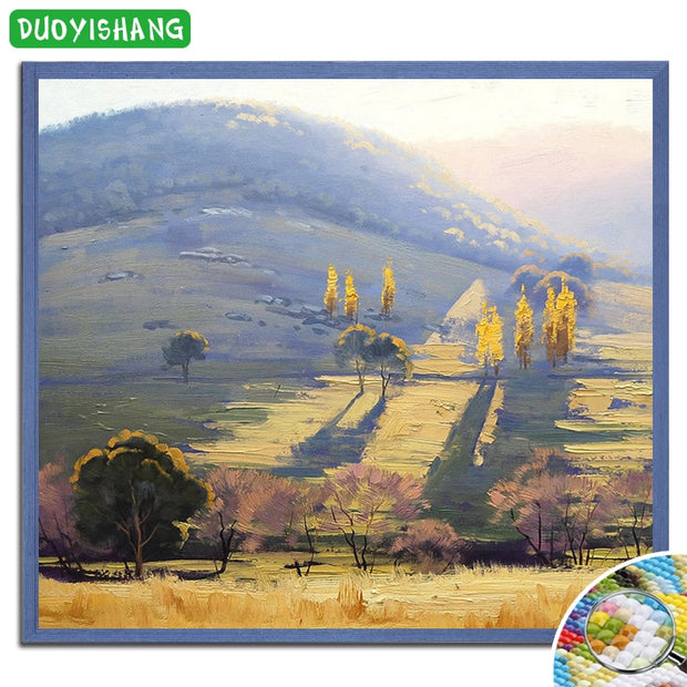 5D DIY Diamond Painting Scenery Crystals Full Square Diamond Embroidery Sale Landscape Tree Paintings Of Rhinestones Decor Home