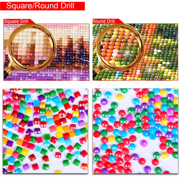 "5D DIY Diamond Painting ""fire Fists"" Diamond Embroidery Cross Stitch Mosaic Full Square/Round Drill Home Decor Gift Art Painting"