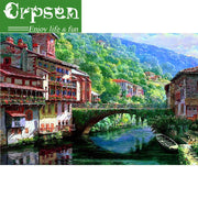 5D DIY Embroidery Diamond Painting Full Square Riverside Scenery Gift Decor Crafts&Sewing Needlework Cross Stitch Arts Crpsen