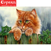 5D DIY Embroidery Full Square Diamond Painting The Cat Gift Arts Crafts&Sewing Cross Stitch Needlework Home Decoration Crpsen