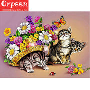 5D DIY Embroidery Square Diamond Painting Full The Cat Needlework Decor Gift Crafts&Sewing Cross Stitch Wall Painting Crpsen