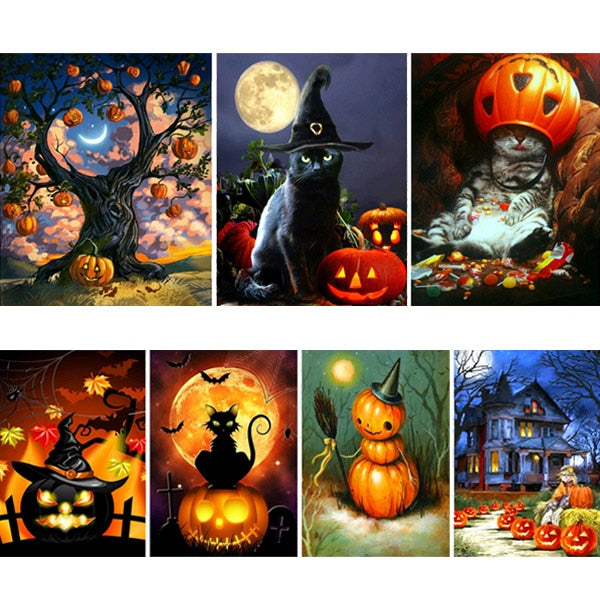5D DIY Painting Halloween Series Cube Rhinestones Drawing Embroidery Cross Stitch Kits Best Price