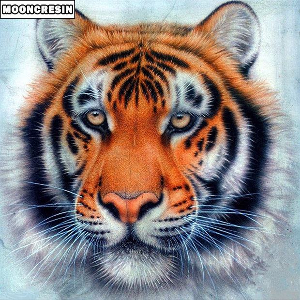 5D Diy Diamond Painting Tiger Full Resin Drill Square Cross Stitch Diamond Embroidery Mosaic Picture Of Rhinestones Home Decor