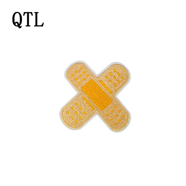 5PCS Band-Aid Glue Embroidery Clothing For Patches Stitchwork Badges Patches Iron On T-shirt Sewing Supplies For DIY Patch Craft