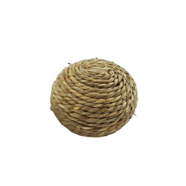 6/10cm Pet Chew Toy Natural Grass Ball With Bell For Rabbit Hamster Guinea Pig For Tooth Cleaning