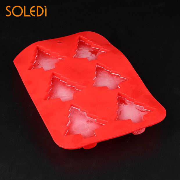 6-Christmas Tree Baking Mould Chocolate Fondant Cookie Cake Candy Ice Cream Mold