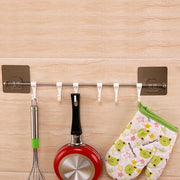 6 Hooks Bathroom Kitchen Shelf Double Suction Cup Storage Rack Kitchen Sundries Rack Toilet Wall Mounted Storage Towel Holder
